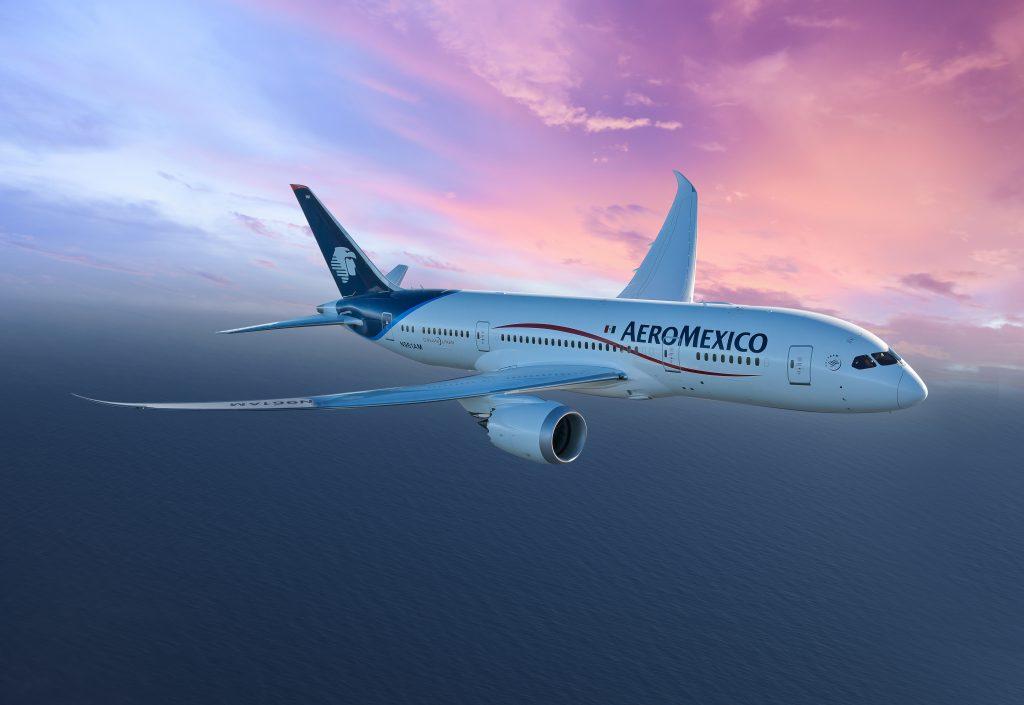 Aeromexico sunset