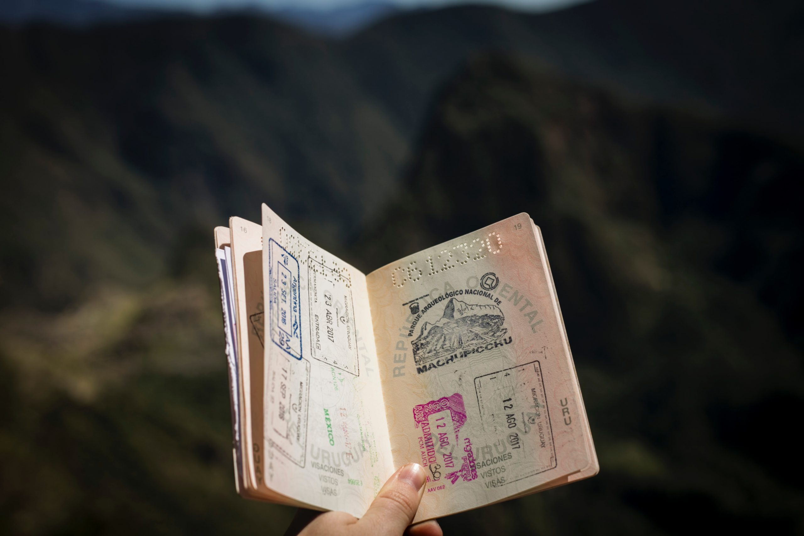 pasaporte sellos