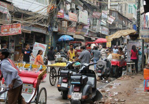 Calle caos India